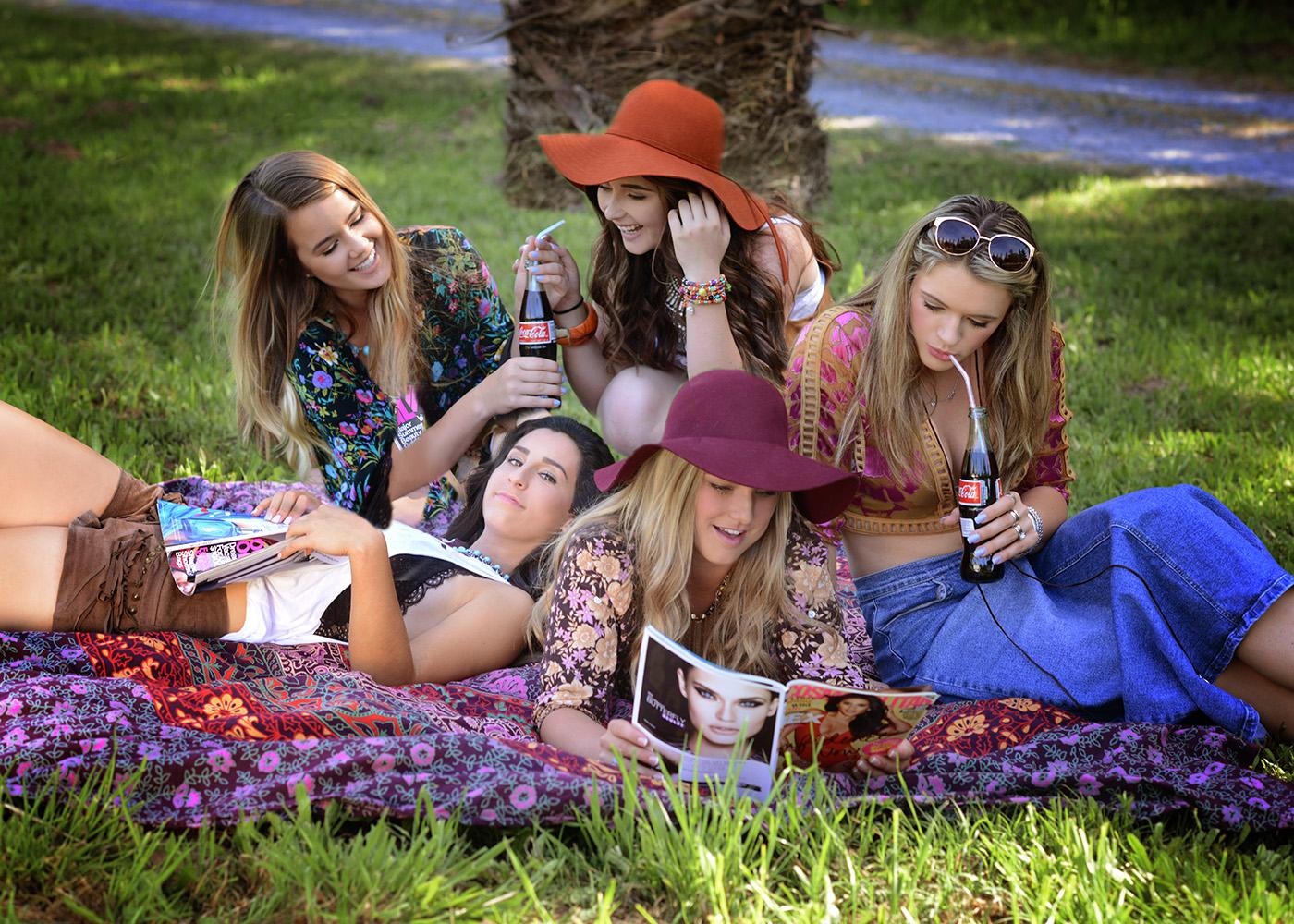 Boho styled girls